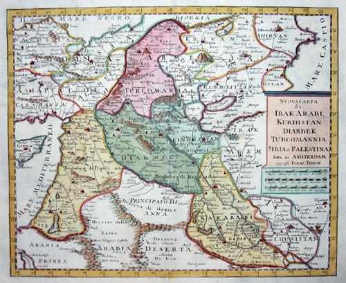 Tirion Isaak Nuova Carta di Irak Arabi, Kurdistan Diarbek Tucrcomannia, Siria, e Palestina …