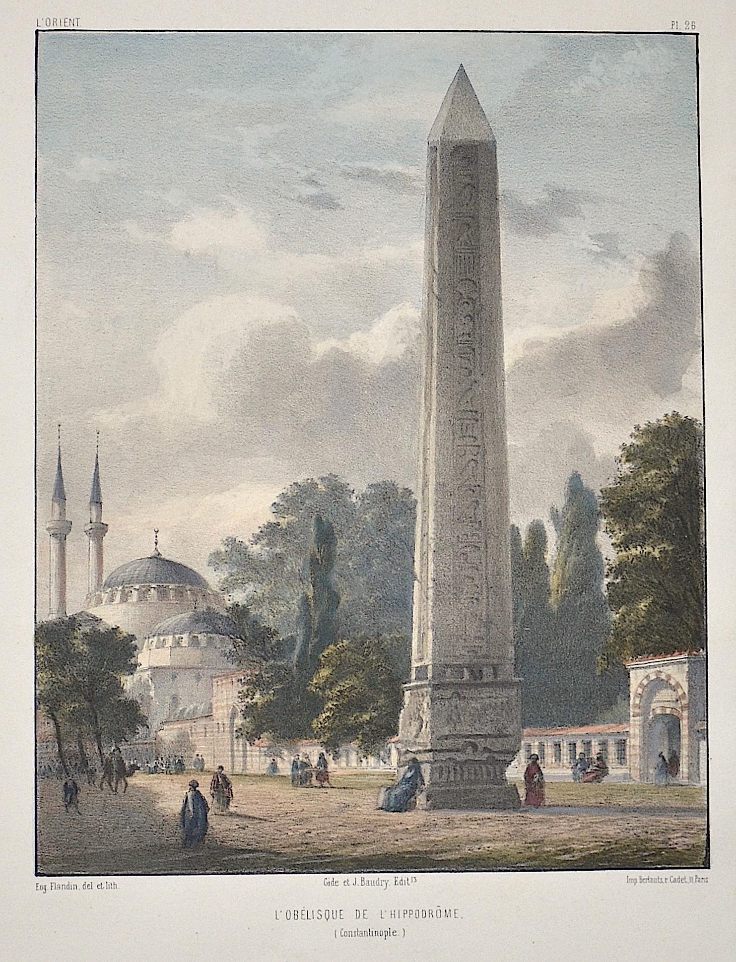 Flandin  L´Obelisque de l´Hippodrome ( Constantinople)