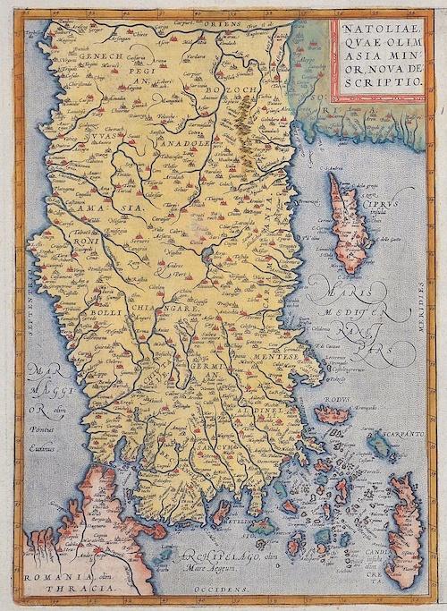 Ortelius  Natoliae, quae olim Asia minor, nova descriptio