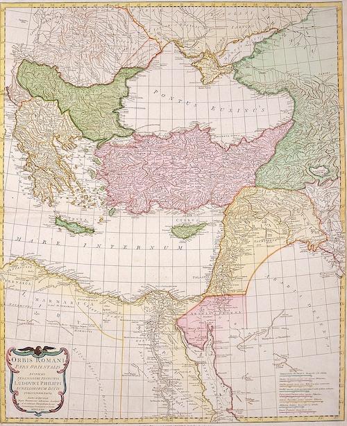 Laurie & Whittle  Orbis Romani pars orientalis….