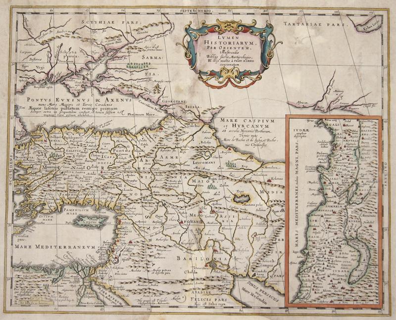 Janssonius/Kaerius Johann Lumen Historiarum. Per Orientem, illustrandes Biblys..