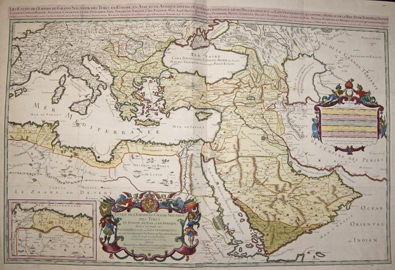 Jaillot Hubert Estats de l'Empire du Grand Seigneur des Turcs en Europe, es Asie, et en Afrique divise en toiuts ses…