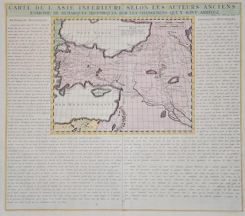Chatelain  Carte de l'Asie inferieure selon les Auteurs anciens, enrichie de remarques historiques sur les changemens qui y sont arrivez.