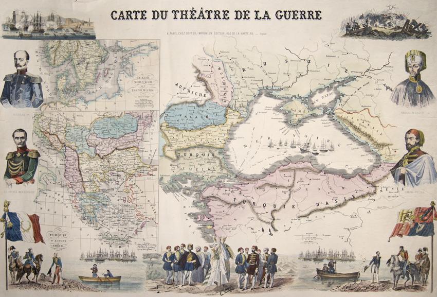 Dopter  Carte Du Theatre de la Guerre