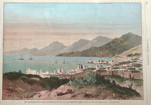 Linton H. Vue Generale de la rade, du port es de la ville de Beyrouth (Syrie),