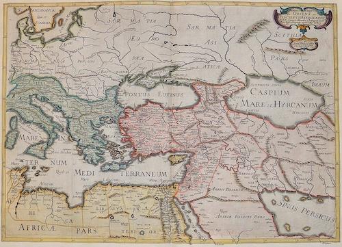 Sanson Nicolas Romani Imperii qua Oriens est Descriptio Geographica.