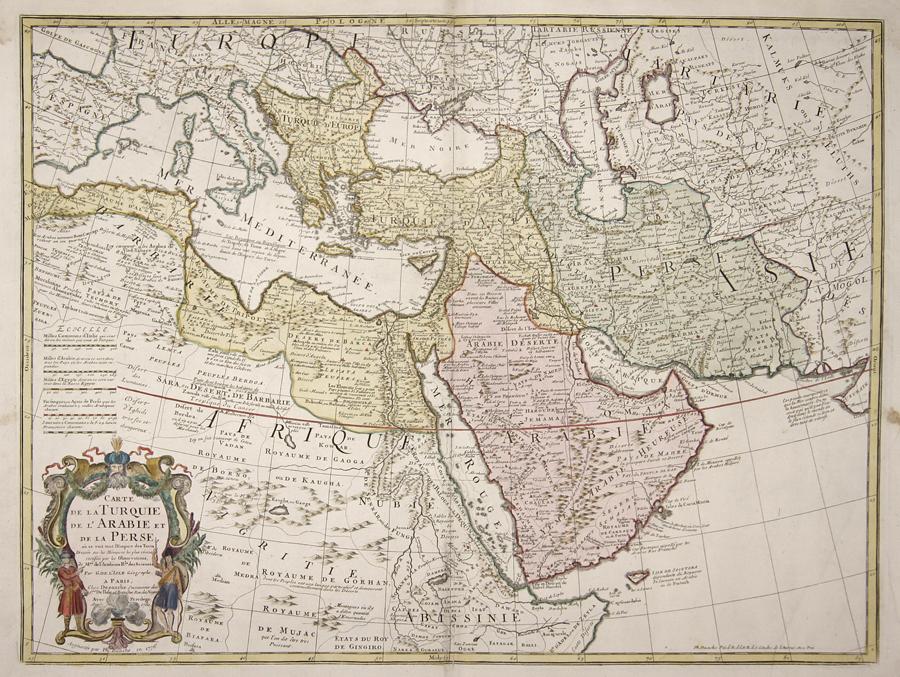 Buache  Carte de la Turquie de l'Arabie et de la Perse,…