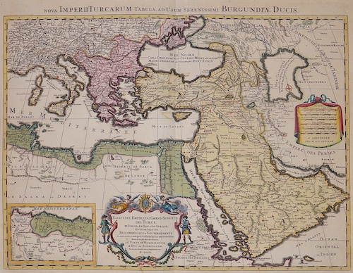 Jaillot Hubert Nova Imperii Turcarum Tabula, ad usum serenissimi Burgundiae Ducis