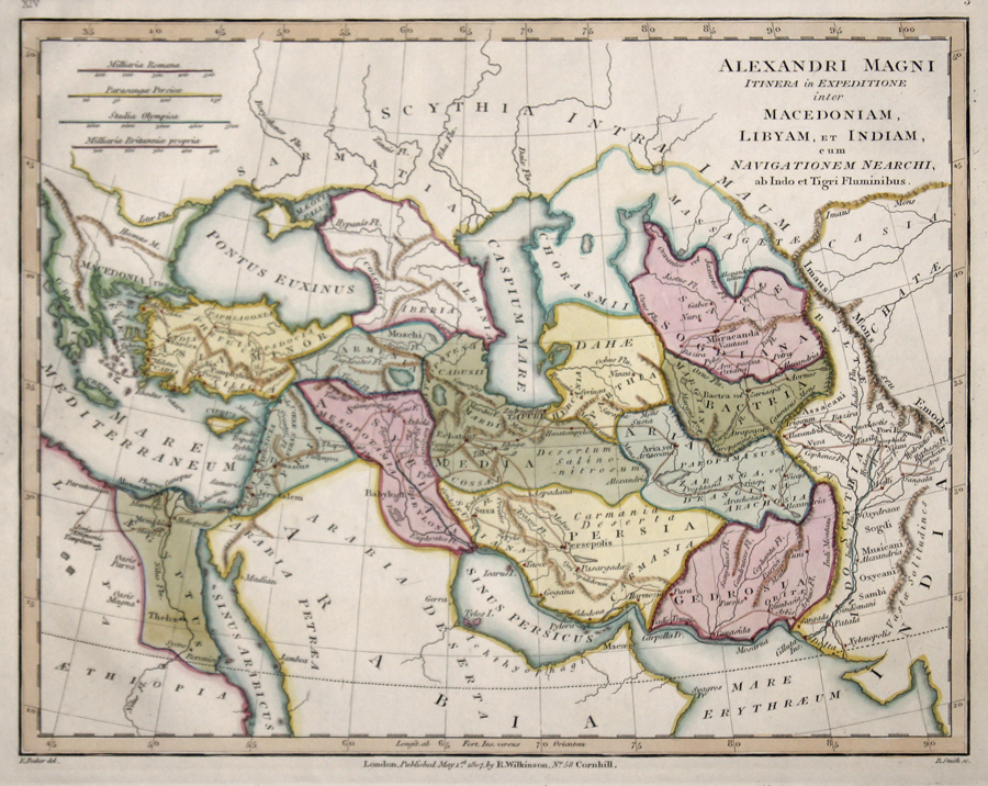Wilkinson R. Alexandri Magni itinera in Expeditione inter Macedoniam, Libyam, et Indiam, cum Navigationem Nearchi, ab Indo et Tigri Fluminibus.