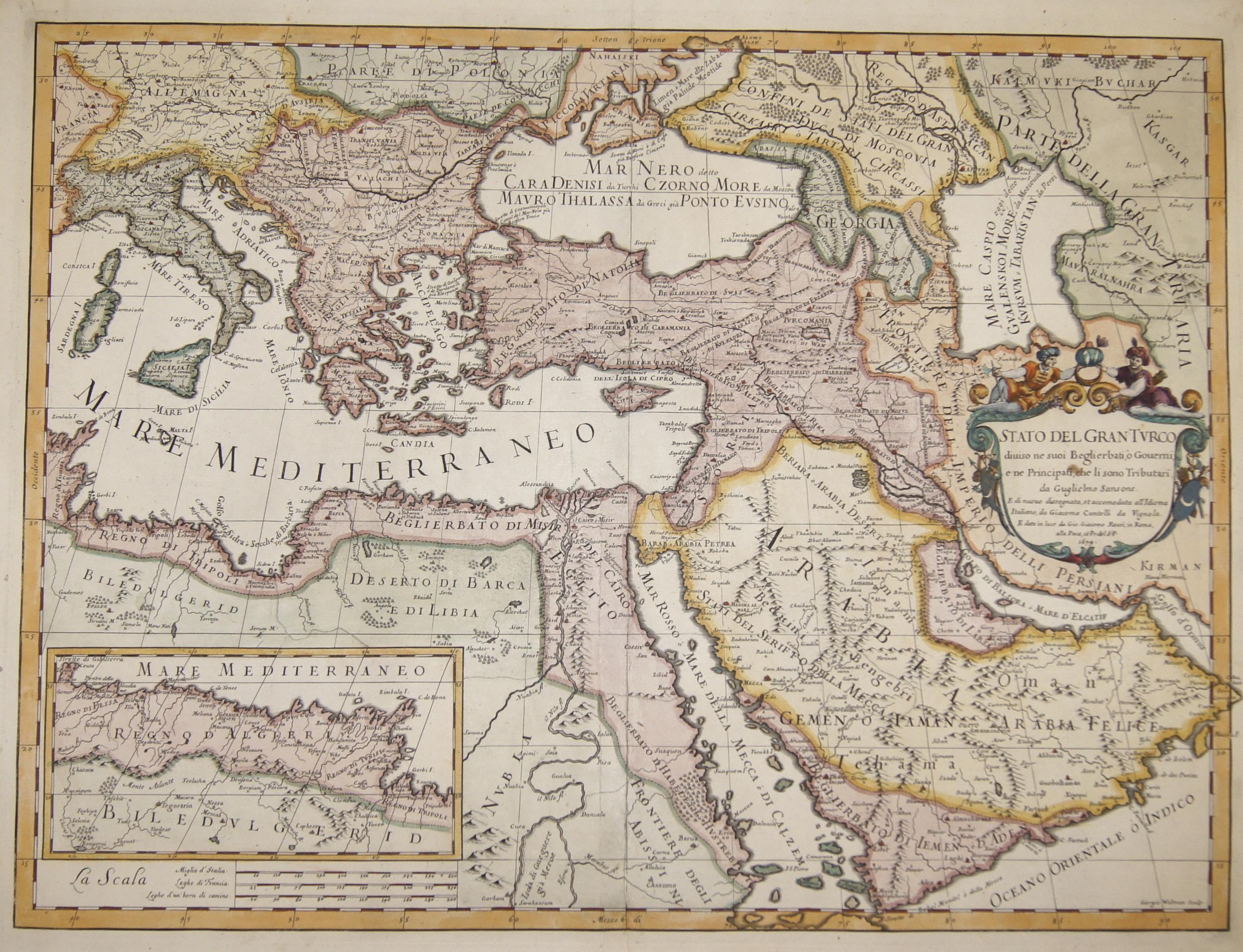 Cantelli da Vignola/Rossi G. / G. G. Stato del Gran Turco diviso ne suoi Beglierbati, ò Gouerni, e ne Principati, che li sono Tributar,…