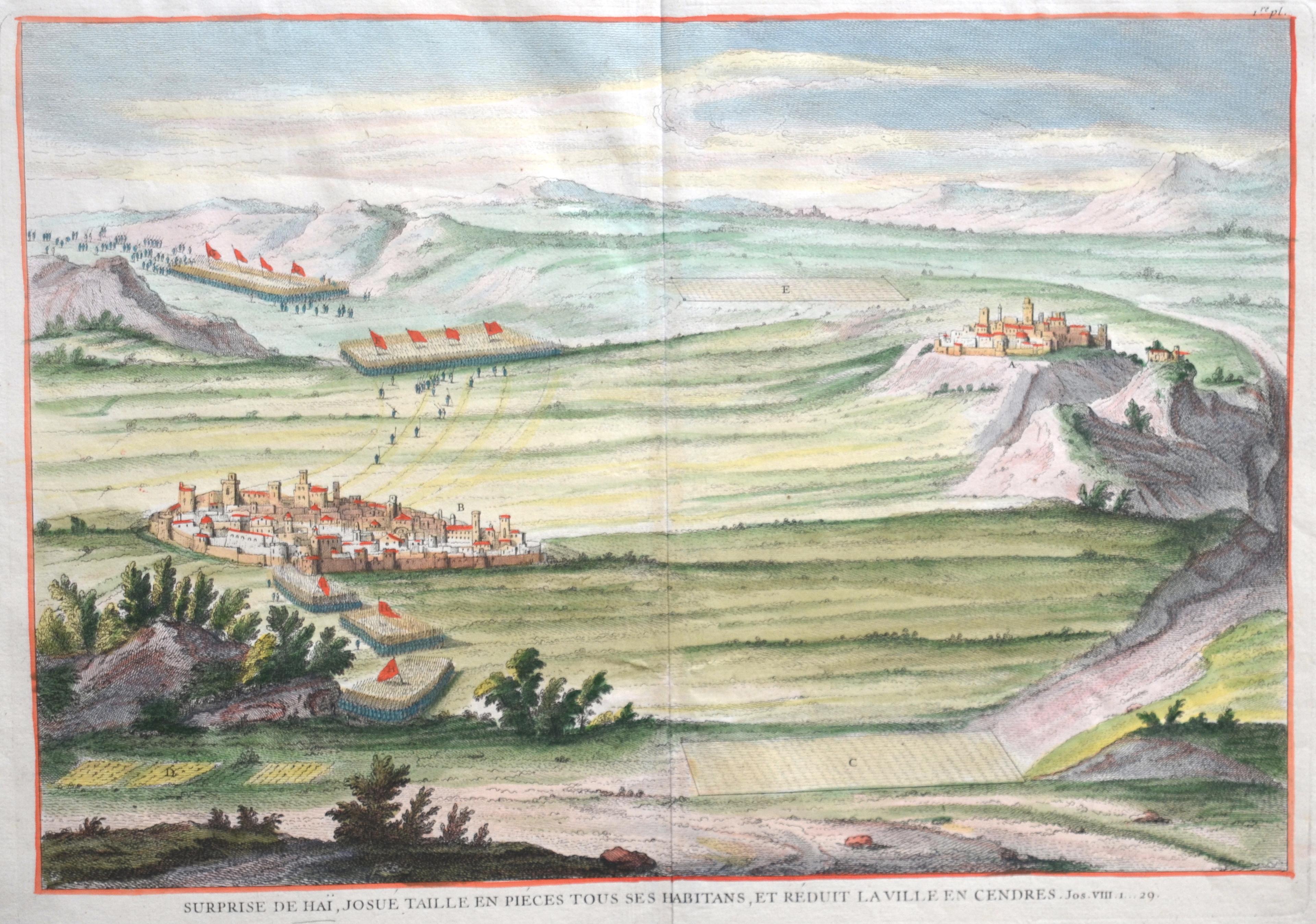 Anonymus  Surprise de Haï, Josué taille en piéces tous ses habitans, et réduit la Ville en Cendres.