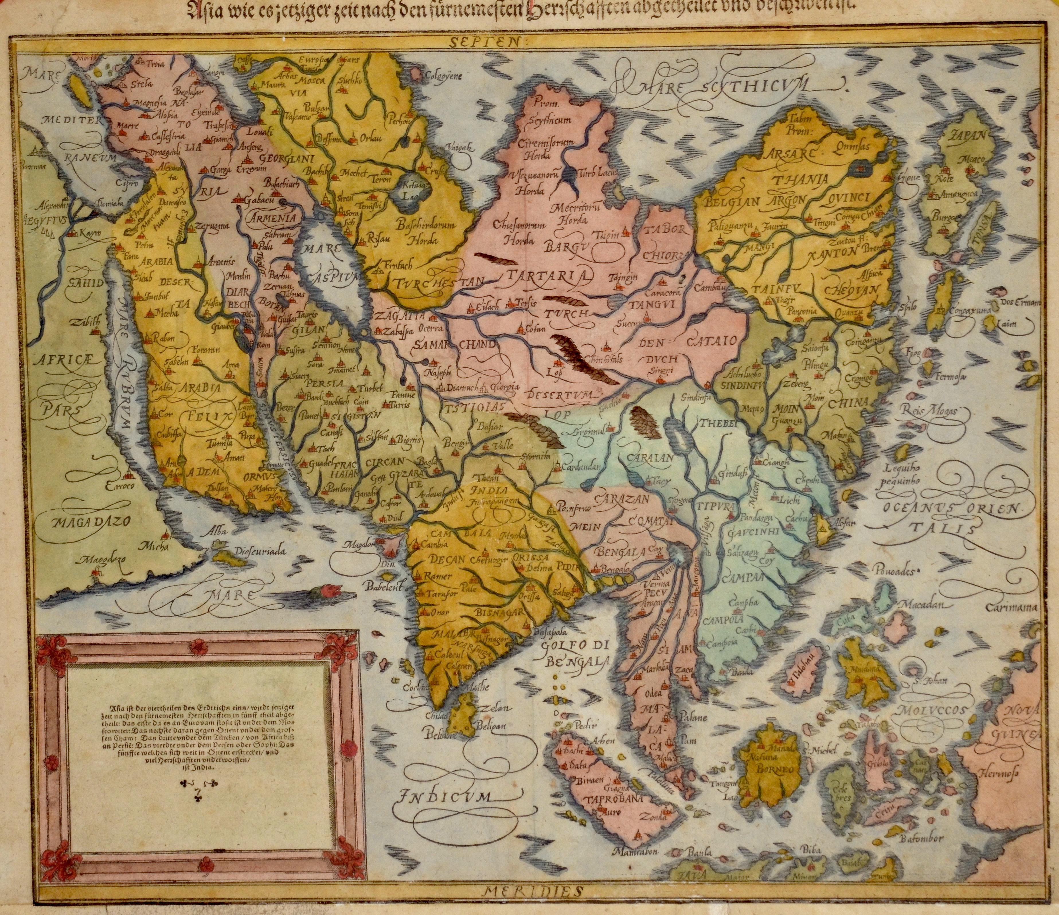 Münster  Asia wie es jetziger Zeit nach den fürnemsten Herrschaften beschriben ist