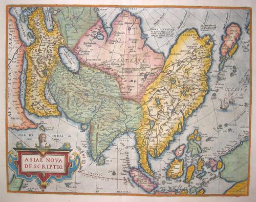 Ortelius  Asiae nova descriptio