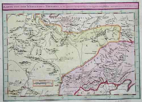 Bellin  Karte von der westlichen Tartarey