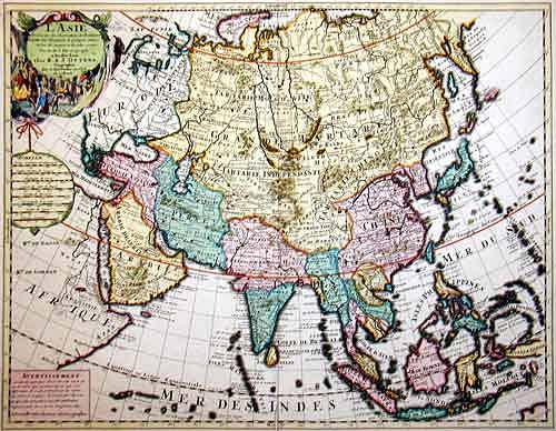 Ottens/ De L´Isle  L'Asie dressée sur les observations de l'Academie Royale des Siences…