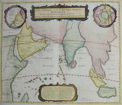 Janssonius  Erythraei sive rubri maris periplus olim ab arriano descriptus nunc vero Abrah. Ortelio exe Odem delineatus