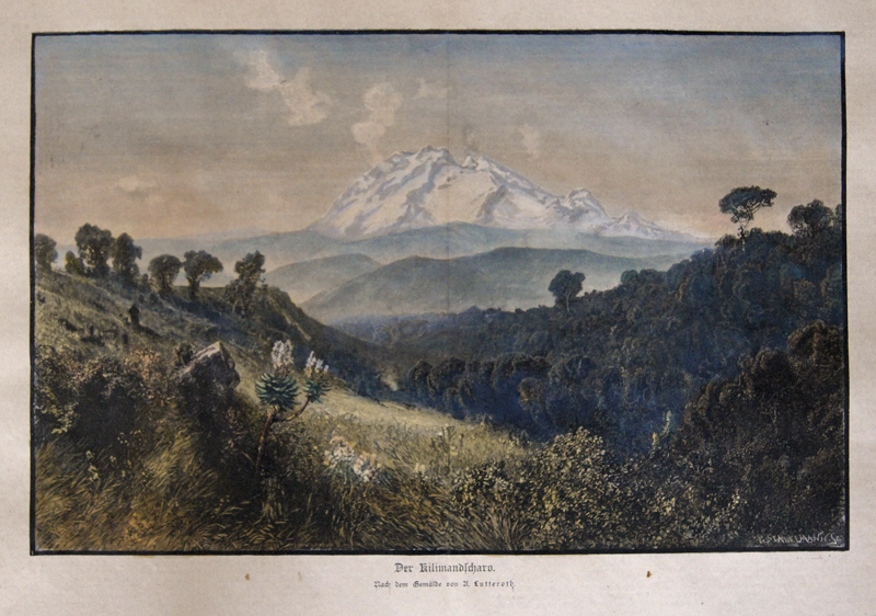 Stadelmann/ Lutteroth G./ Ascan Der Kilimandscharo. Nach dem Gemälde von A. Lutteroth.
