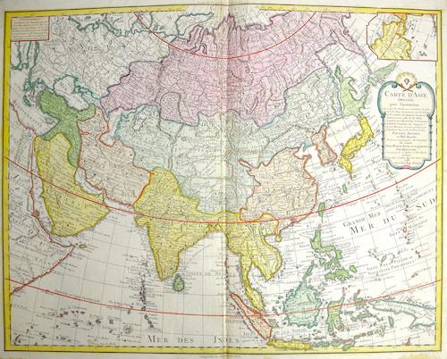 Dezauche/de l´Isle, J.A. / G. Carte d' Asie dressee pour l'instruction…