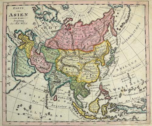 Walch  Karte von Asien