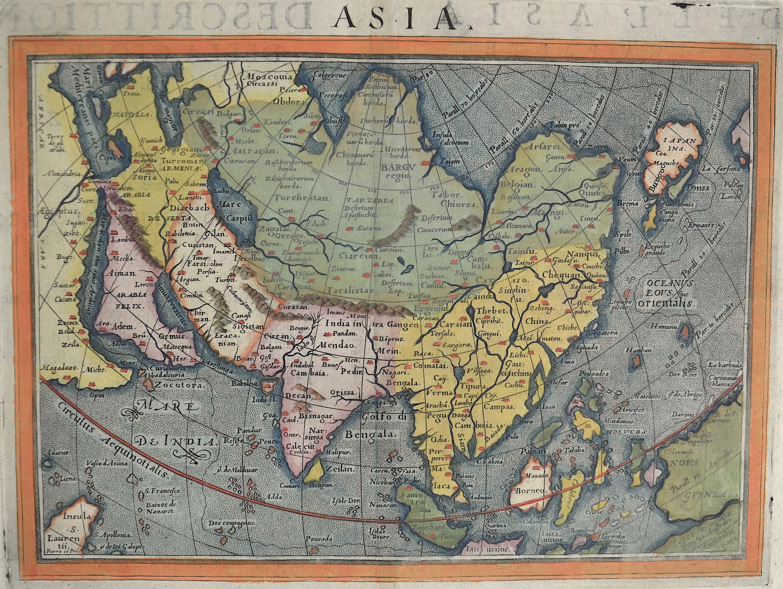 Porcacchi/ Porro Tomasso Asia. Descrittione dell'Asia