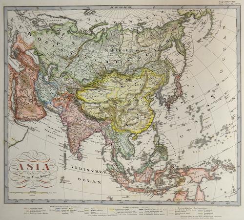Perthes  Asia entw. u. gez. von L. von Stülpnagel.