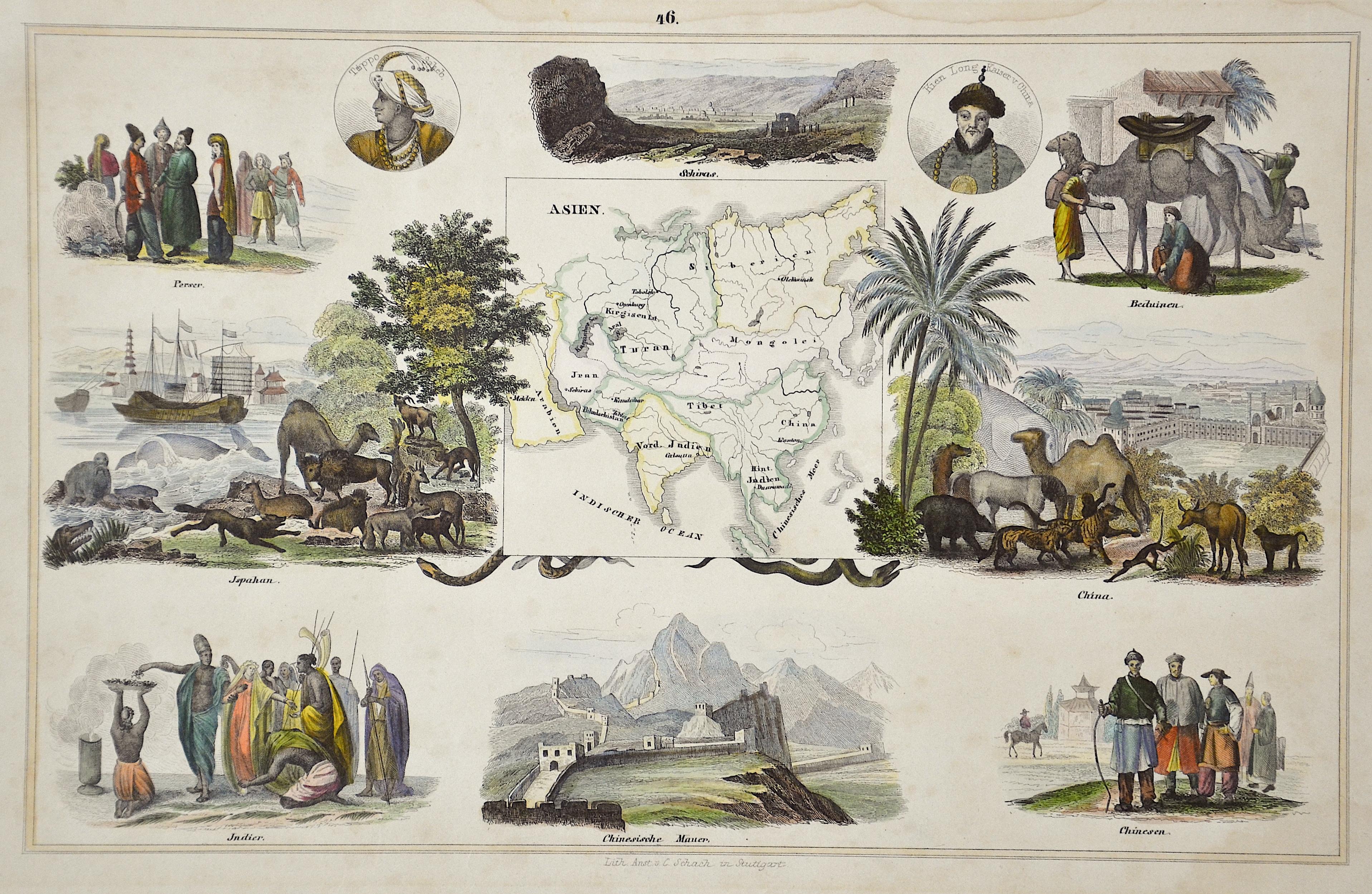 Schach Lithographische Anstalt C. 46. Asien.