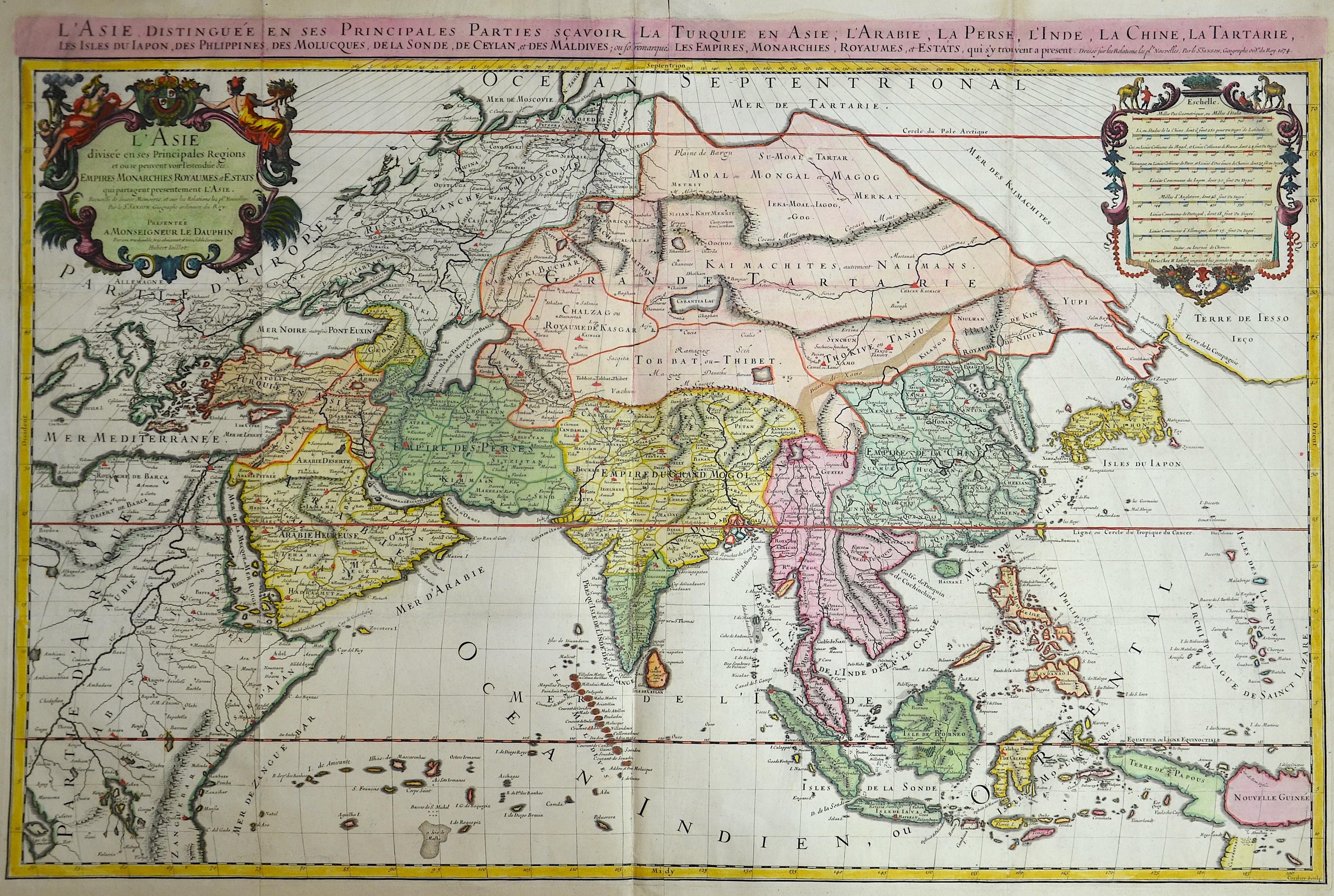 Sanson/ Jaillot, Charles Hubert Nicolas L'Asie divisée en ses Principales Regiones…