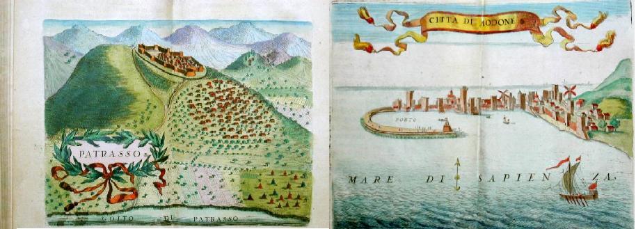 Coronelli Vicenzo Maria La Morée, La Description geographique et historique de la Moree reconquise par les Venitiens, du royaume de Negrepont…..