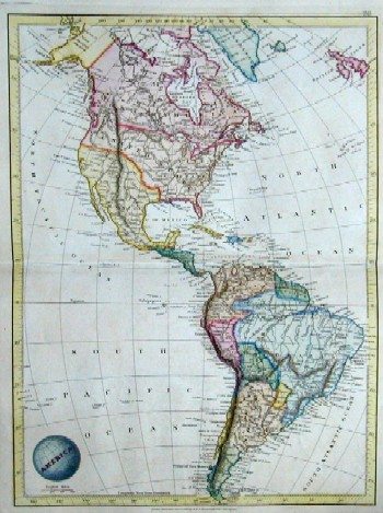 Arrowsmith/ Lapie Brue Neuer Zeitungs-Atlas von Amerika…../A new general Atlas of America exhibiting its physical features and present arrangements in political divisions