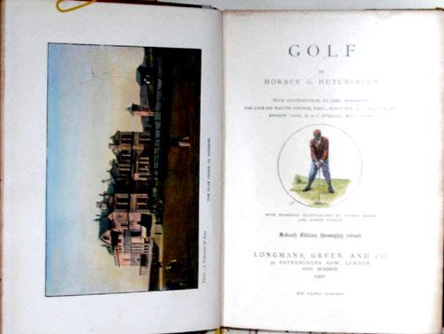 Hutchinson  Golf by Horace G. Hutchinson