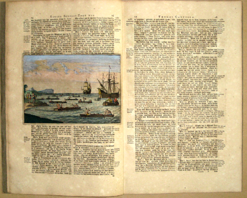 Aa, van der Peter Twee vermaarde Scheeps- Togten, van Thomas Candisch, Engels Edelman, de Eerste, rond- om den geehelen Aard- Kloot……1586