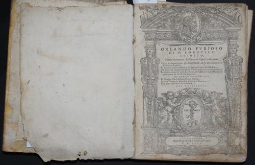 Valgrisi V. Orlando furioso di M. Lodovico Ariosto,…..