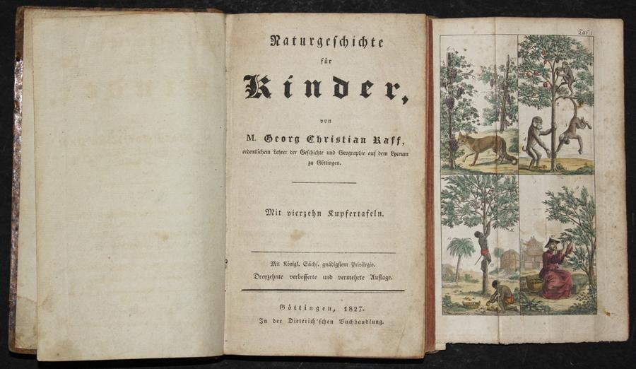 Raff Georg Christian Naturgeschichte für Kinder, von M. Georg Christian Raff,…