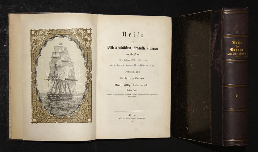 Scherzer, Dr. von  Reise der Oesterreichischen Fregatte Novara um die Erde, in den Jahren 1857, 1858, 1859