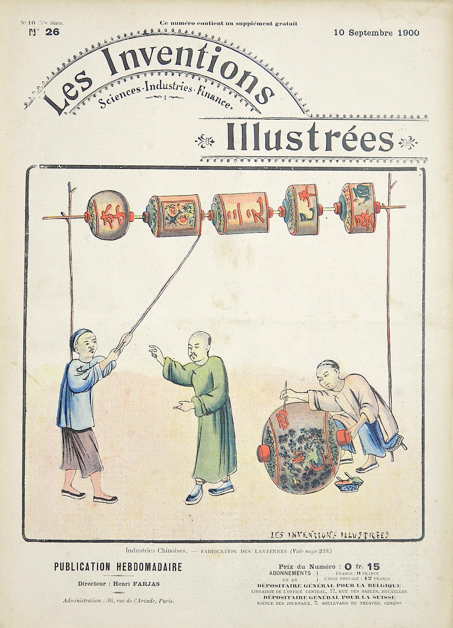 Brunet E. Les Inventions Illustrées / Industries Chinoises.- Fabrication des Lanternes
