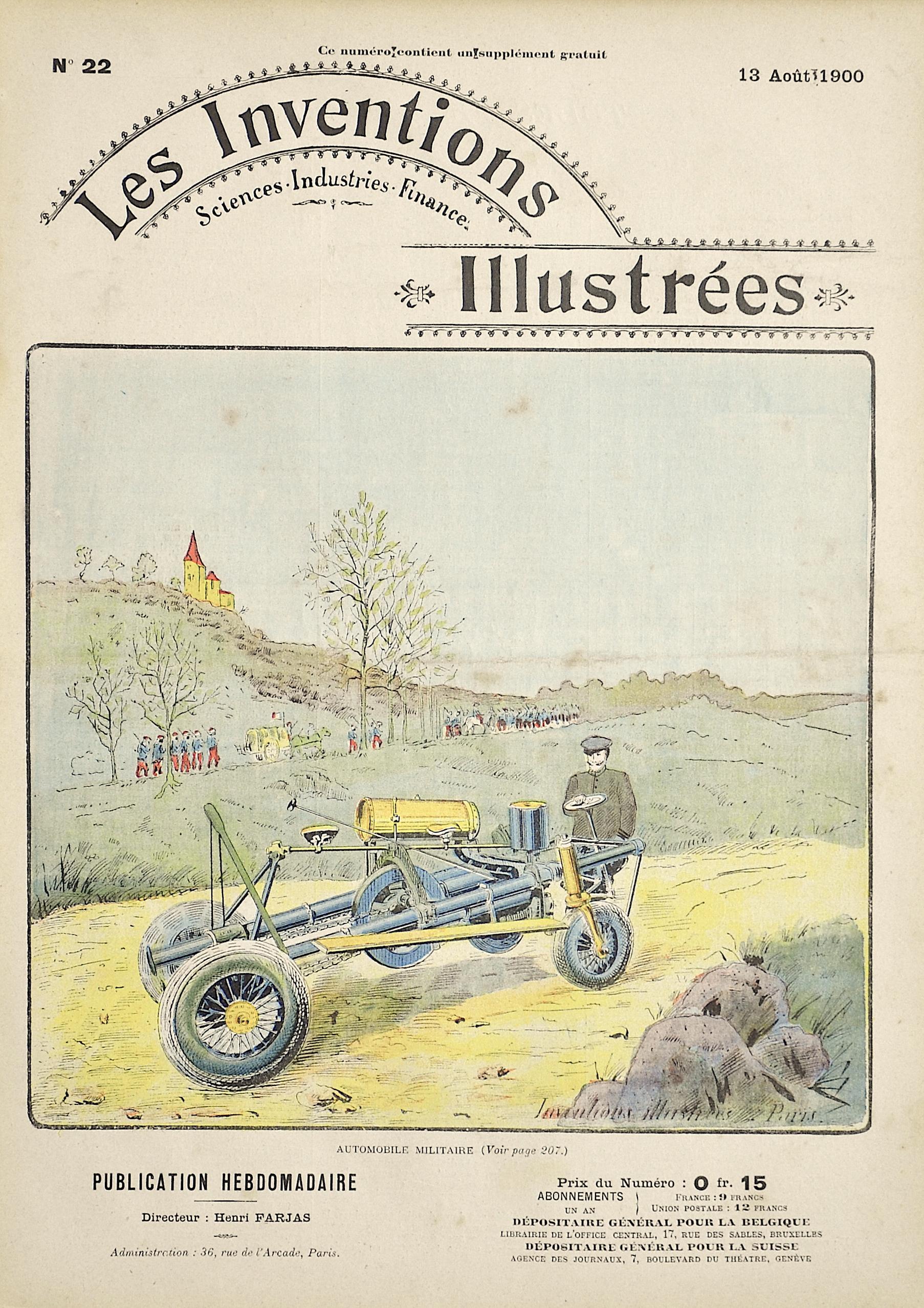 Brunet E. Les Inventions Illustrées / Automobile Militaire