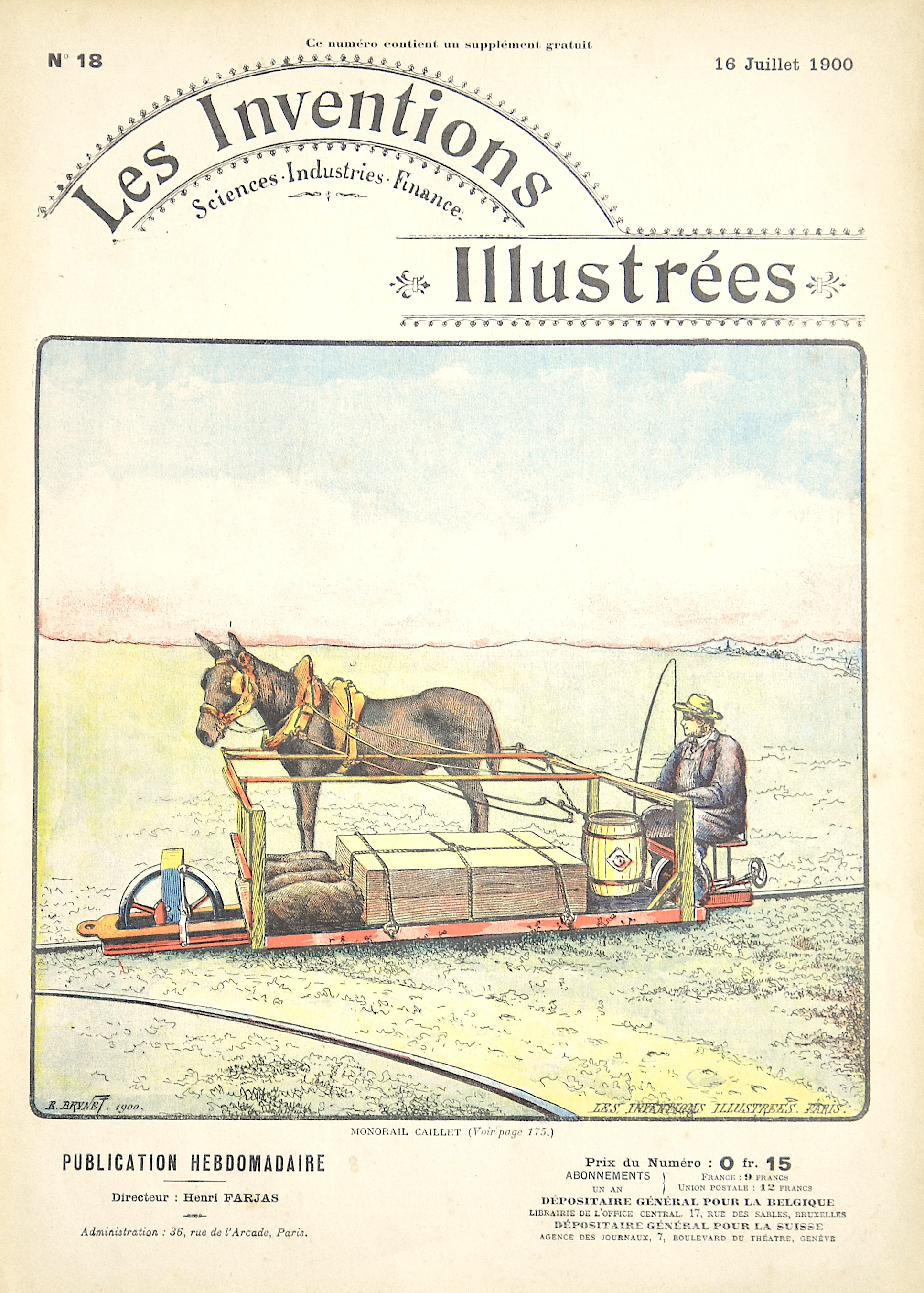 Brunet E. Les Inventions Illustrées / Monorail Caillet