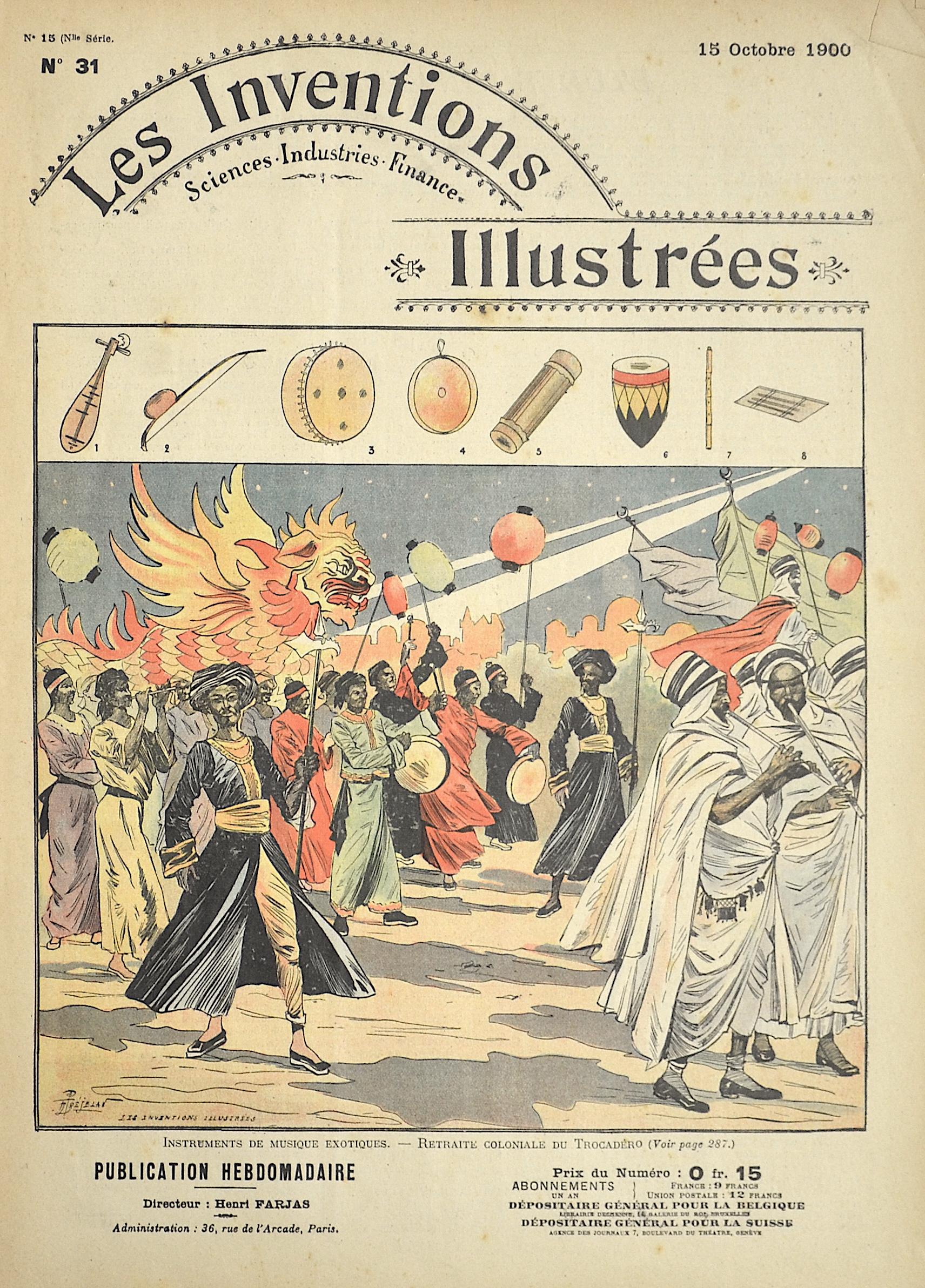 Brunet E. Les Inventions Illustrées / Instruments de Musique exotiques.- Retraite Coloniale du Trocadero