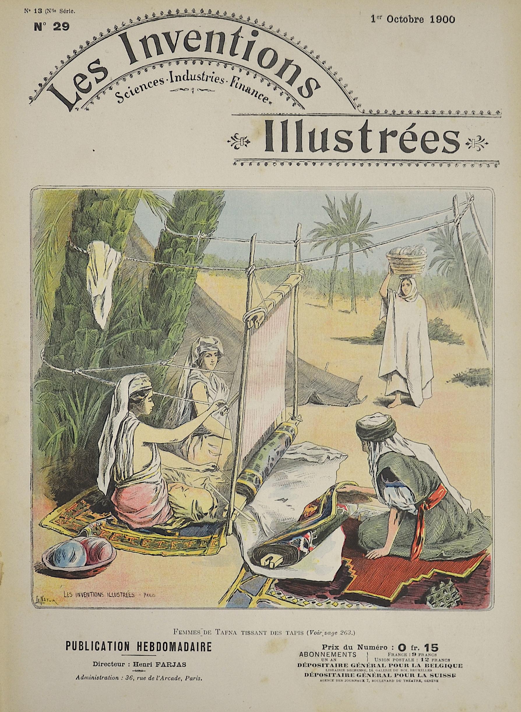 Brunet E. Les Inventions Illustrées / Femmes de Tafna Tissant des Tapis