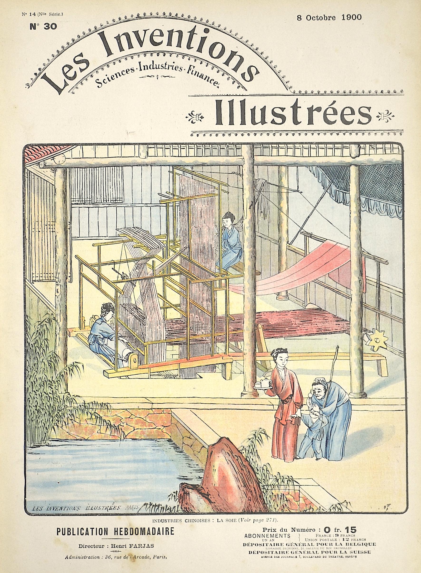 Brunet E. Les Inventions Illustrées / Industries Chinoises: La Soie