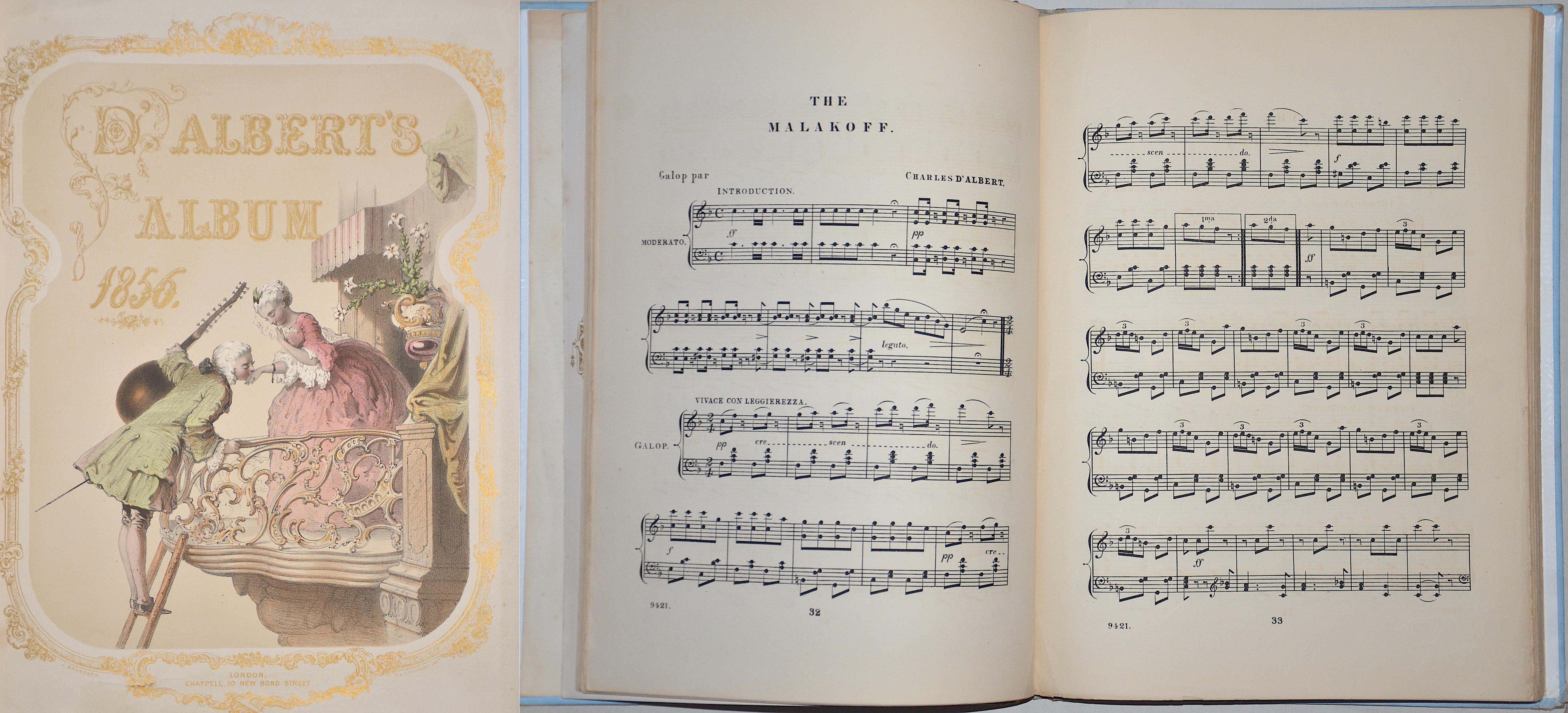 Chappell  D'Albert's Album 1856.