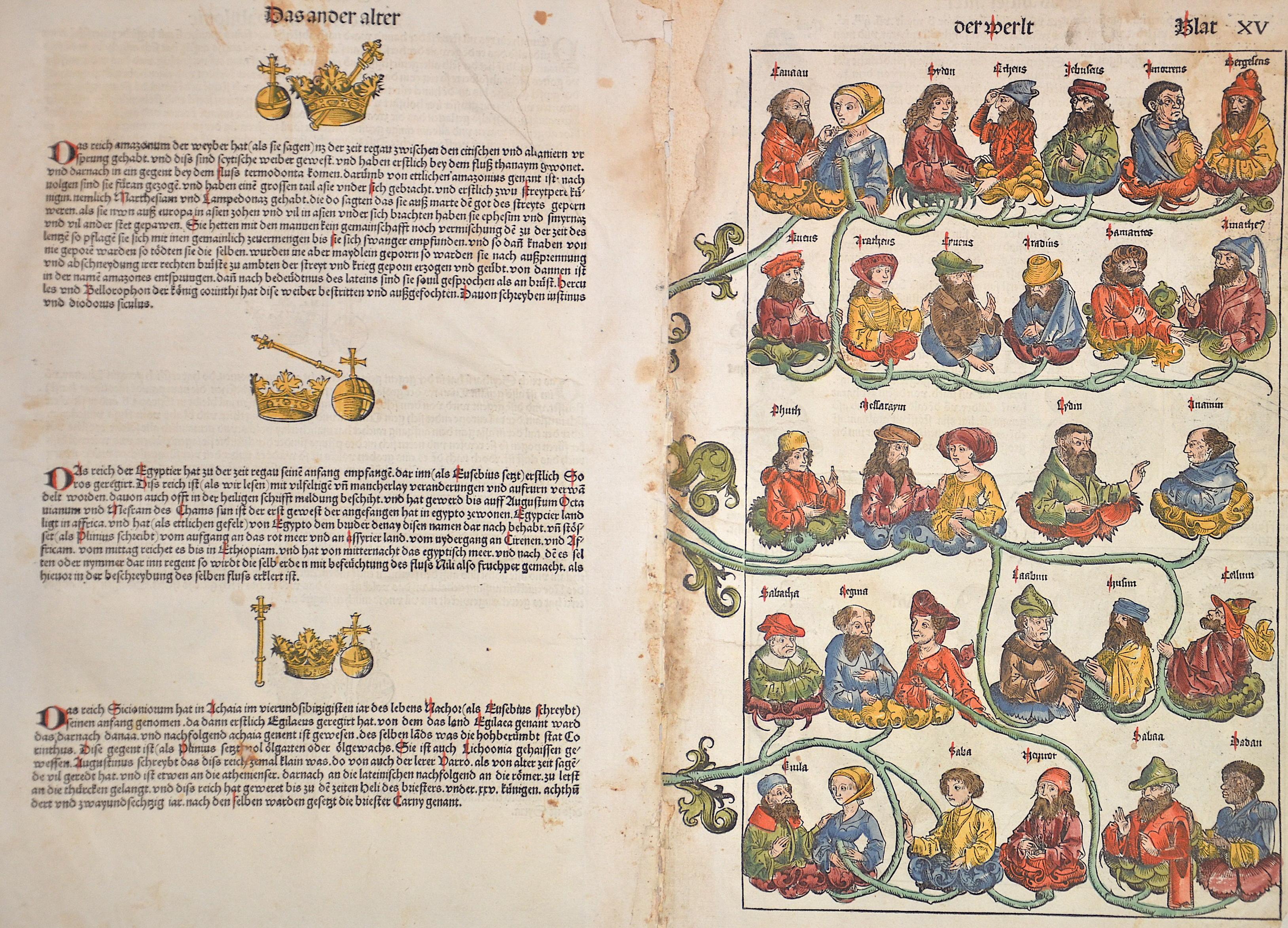 Schedel Hartman Das ander later der werlt Blat XV / Das ander alter der werlt Blat XVIII