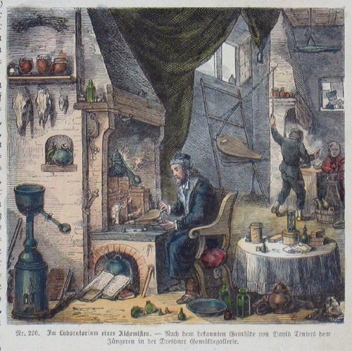 Teniers  Im Laboratorium eines Alchemisten