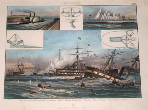 Brockhaus riedrich Arnold Seewesen, Regatta- Seeschlacht bei Lissa ( 1866)