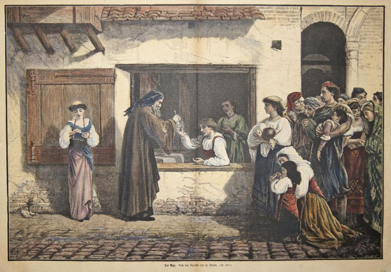 Wallis  Der Arzt. Nach dem Gemälde von H. Wallis