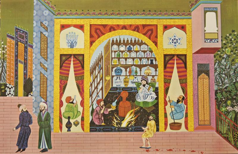 Rousse- Laboratoires  Pharmacie arabe du XIV siecle