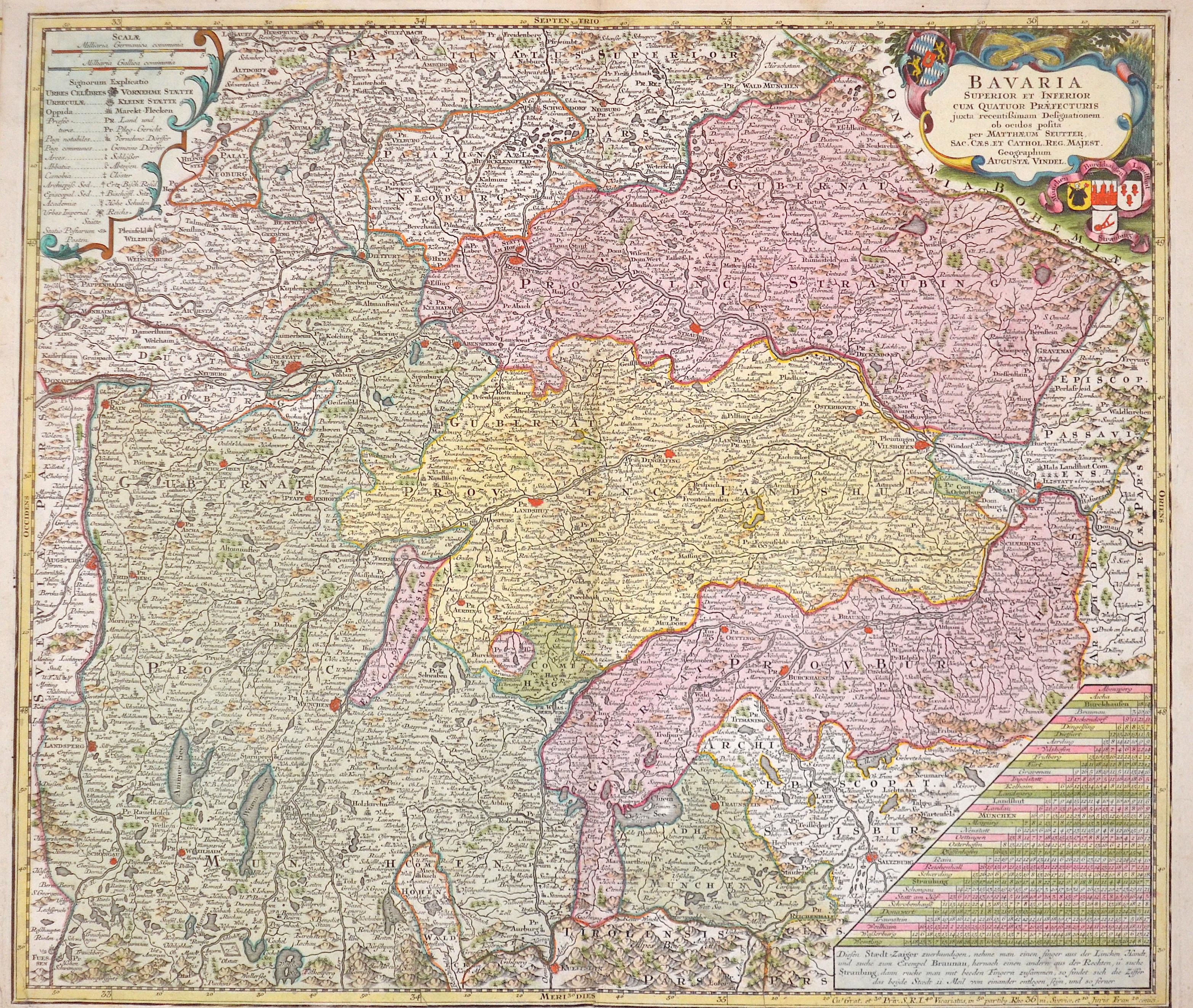 Seutter  Bavaria Superior et Inferior…