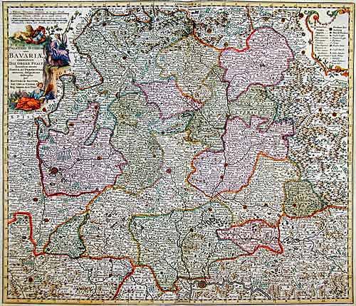 Seutter  Palatinat. Superior sive Bavariae Germanice
