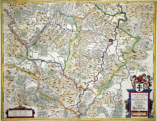 Janssonius Johann Territorium Abbatiae Herelsfeldensisis