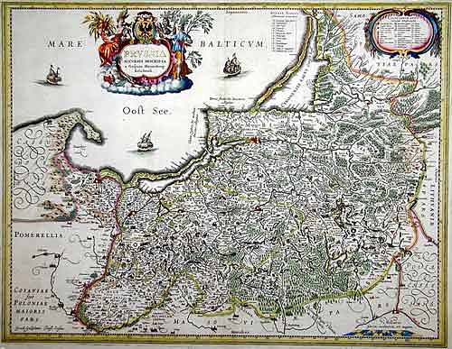 Blaeu  Prussia accurate descriptia a Gasparo Henneberg Erlichensi